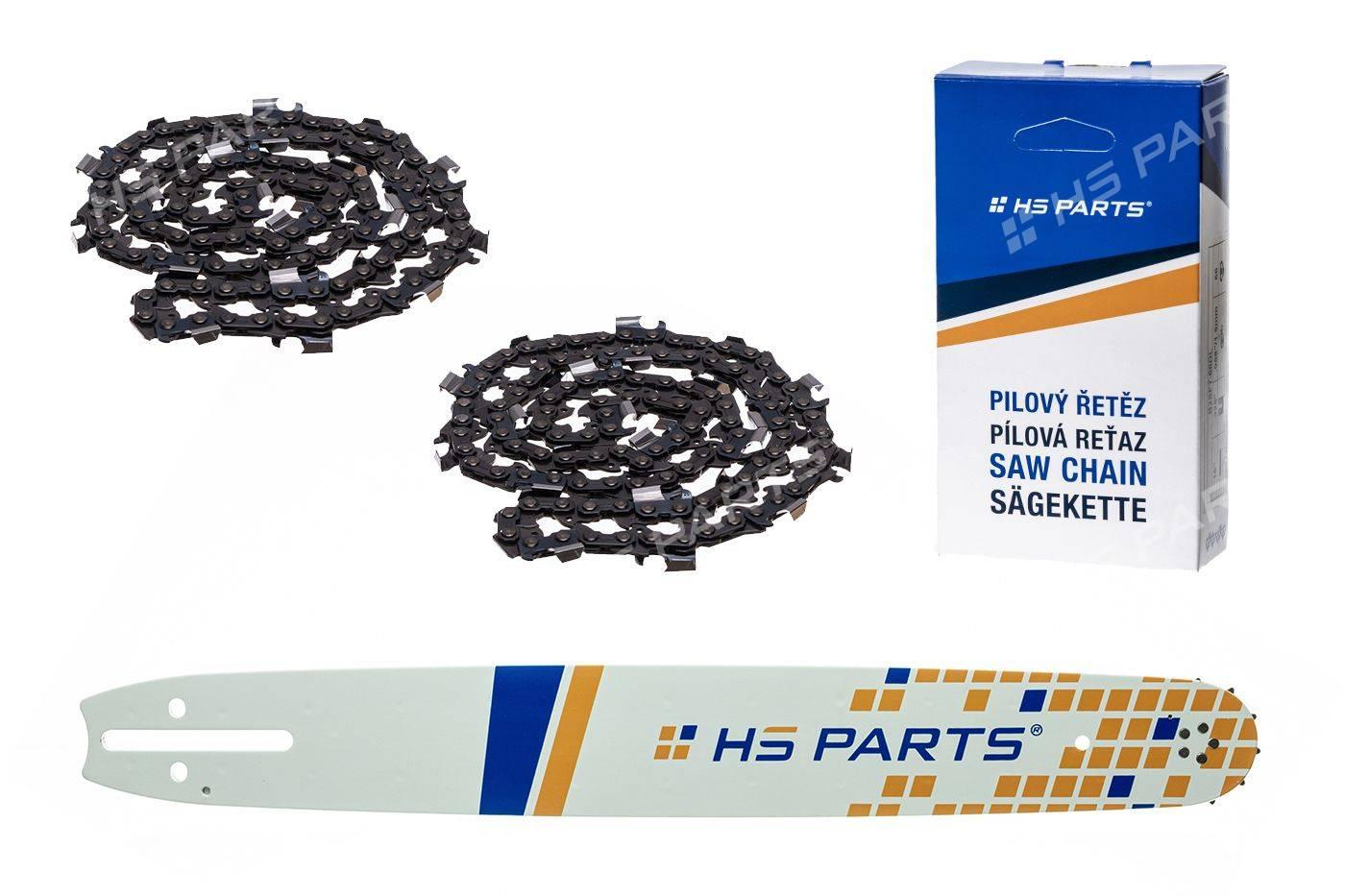"HS PARTS Prowadnica 20"" (50cm) + 2 x Łańcuch .3/8"" 1,5 mm 72 ogniw dla Husqvarna"